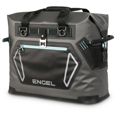 Engel HD30 Heavy Duty Waterproof Soft-Sided Cooler Tote Bag with Carry Handles and Shoulder Strap for 48 Cans or 35 Pounds of Ice, Seafoam