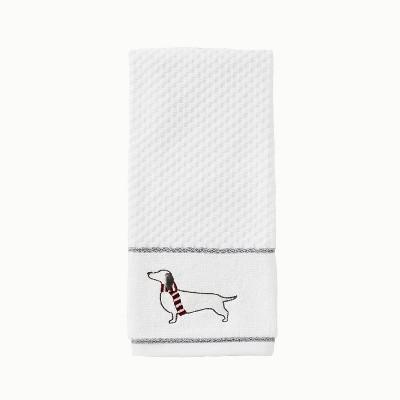 2pc Vern Yip Fa La La Dachshund Hand Towel Set White - SKL Home