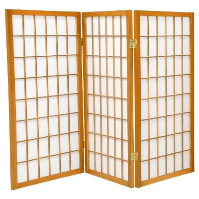 3 ft. Tall Window Pane Shoji Screen (3 Panels) - Oriental Furniture