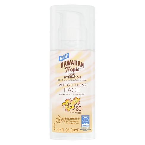 Hawaiian Tropic Silk Hydration Faces Weightless Sunscreen Pump - SPF ... a920a73ca548