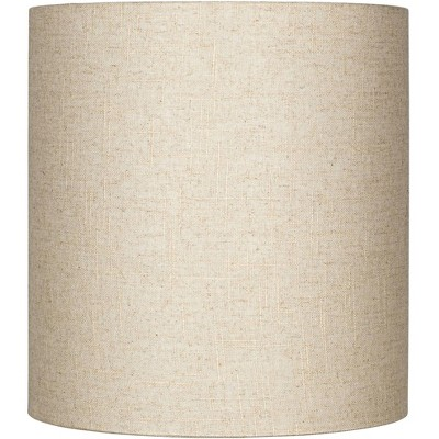 Brentwood Oatmeal Tall Linen Drum Shade 14x14x15 (Spider)