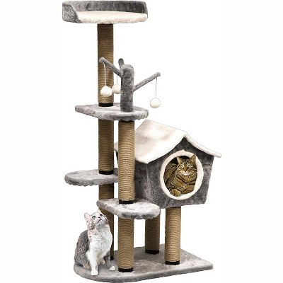 Penn-Plax Cat Life Furniture Deluxe Activity Tree Top Lounge Gray & White