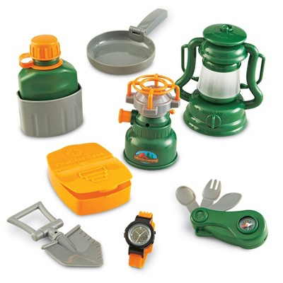 Learning Resources Play Camping Set, 9 Piece, Ages 3+