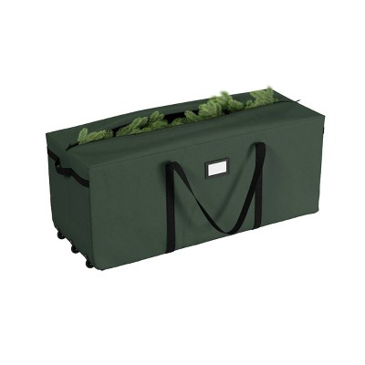 Premium Green Rolling Christmas Tree Storage Duffel Bag for 9' Tree - Elf Stor
