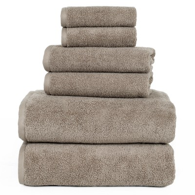 Solid Bath Towels And Washcloths 6pc Taupe - Yorkshire Home