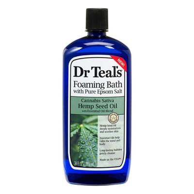 Dr Teal's Hemp Seed Foaming Bath Oil - 34 fl oz