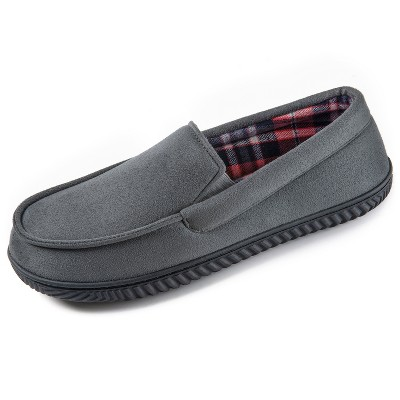 RockDove Men's Flannel Lined Memory Foam Loafer Slipper