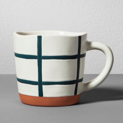Stoneware Mug 12oz - Blue Grid - Hearth & Hand™ with Magnolia