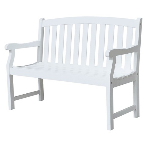 Vifah Bradley Eco-friendly 4' Outdoor White Wood Garden Bench - image 1 of 3