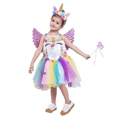 Kids' Unicorn Deluxe Halloween Costume Set