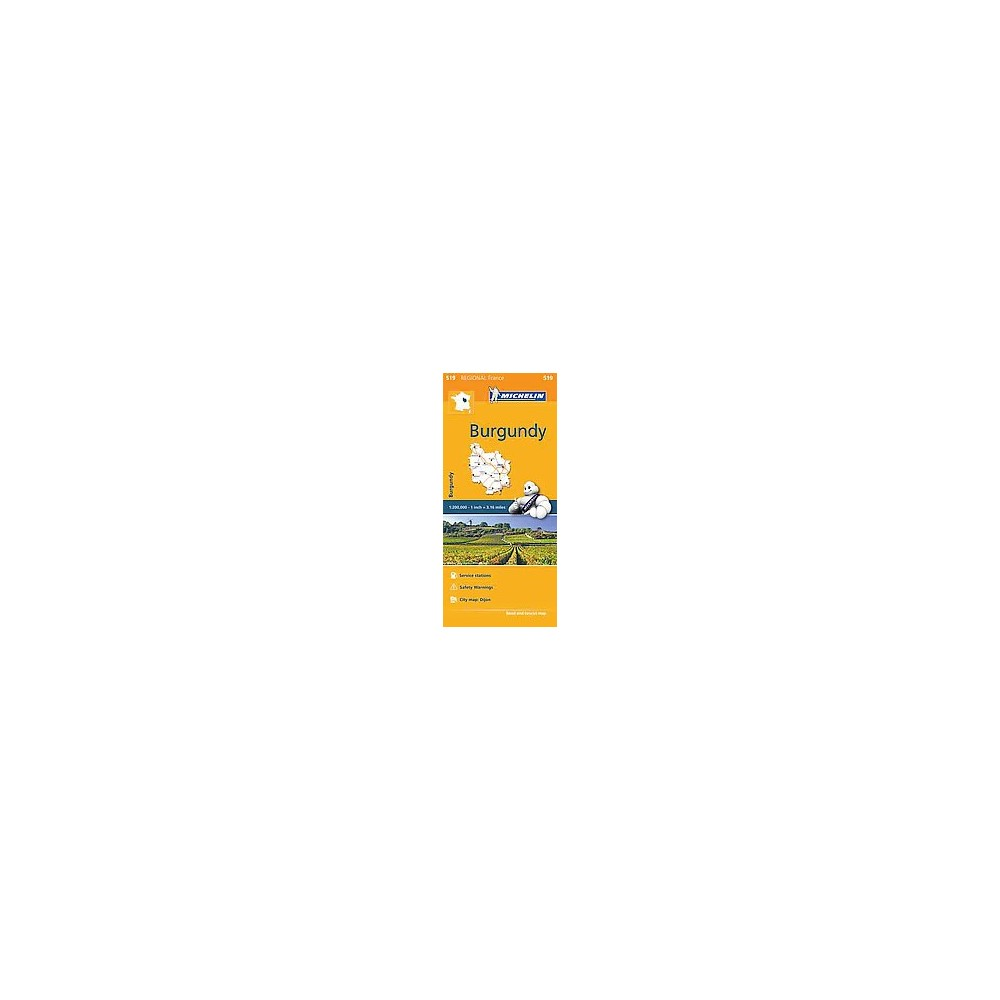 Michelin Regional Burgundy / Bourgogne (Multilingual) (Paperback)