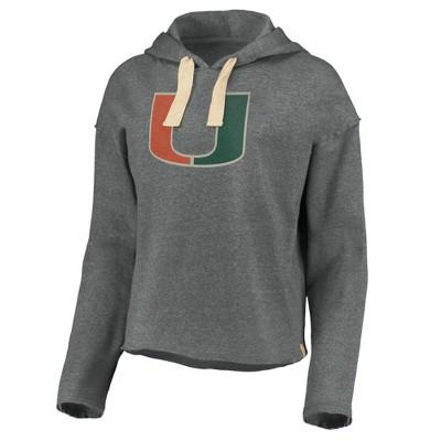 NCAA Miami Hurricanes Women's Gray Hoodie