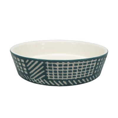 Ceramic Dog Bowl with Carved Pattern - Blue - 2 Cup - Boots & Barkley™