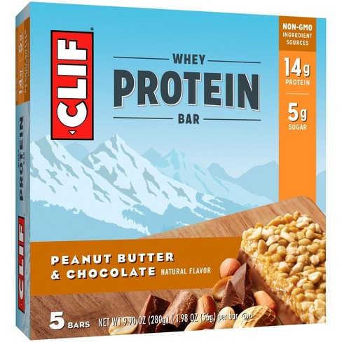 Clif Whey Protein Bar - Peanut Butter Chocolate - 5ct - image 1 of 2