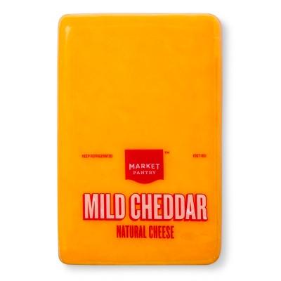 Mild Cheddar Natural Cheese - Price Per lb. - Market Pantry™