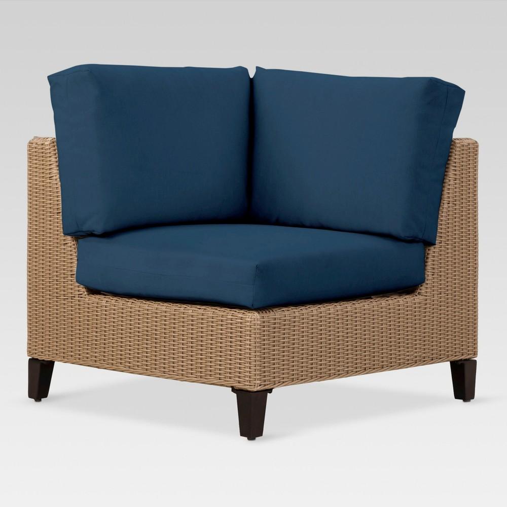 Fullerton Wicker Patio Corner Sectional Seat - Navy (Blue) - Project 62