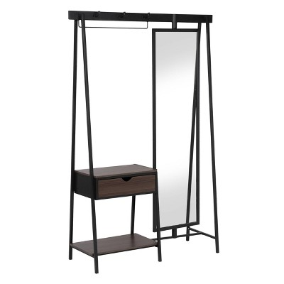 Emhold Coat Stand with Mirror Matte Black Powder Coating - miBasics