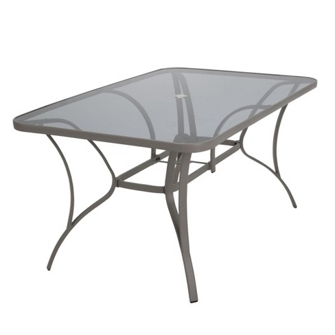 94303db57b3a Paloma Rectangle Steel & Tempered Glass Table - Blue/Gray - Cosco Outdoor  Living : Target
