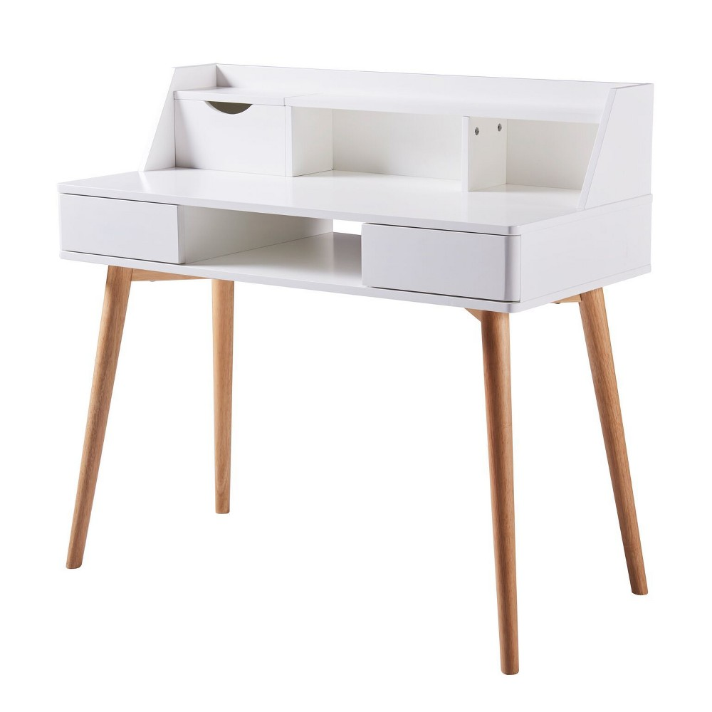 Creativo Stylish Desk White/Natural - Versanora