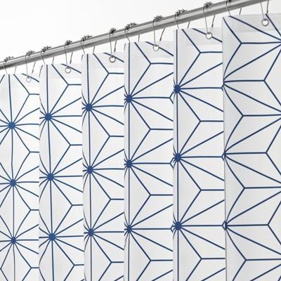 mDesign Geometric Waterproof PEVA Shower Curtain
