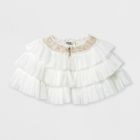 b171013239e Toddler Girls  Tulle Ruffle Capelet Jacket - Genuine Kids® from OshKosh®  Gallery White