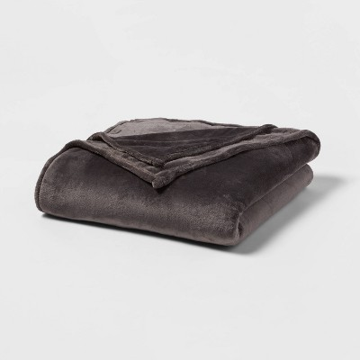 Twin/Twin XL Microplush Bed Blanket Hot Coffee - Threshold™