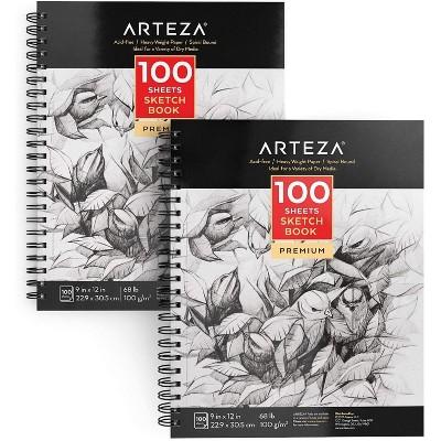 """Arteza Sketchbook, 9""""x12"""", 100 Sheets of Paper - 2 Pack (ARTZ-8091)"""