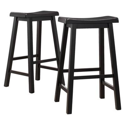 """29"""" Rush Seat Hardwood Barstool Cappuccino - Boraam"""