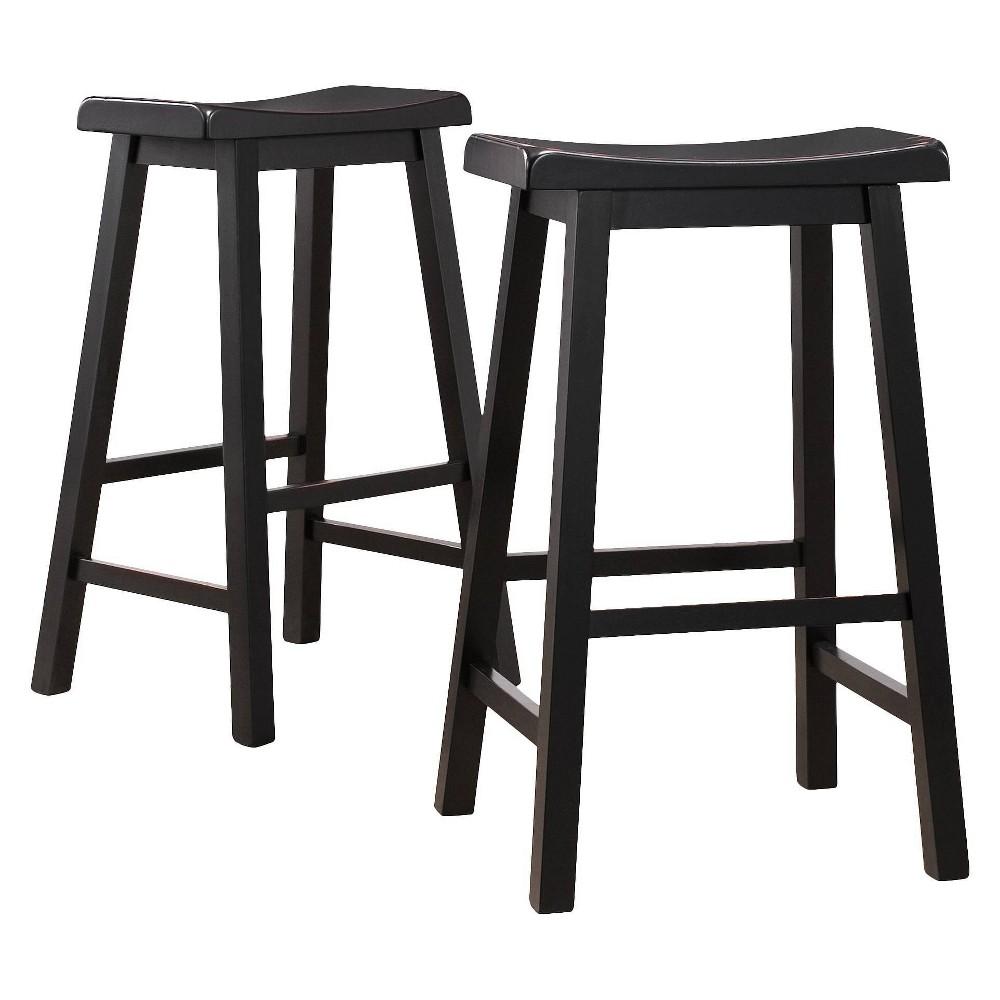 29 34 Rush Seat Hardwood Barstool Cappuccino Boraam
