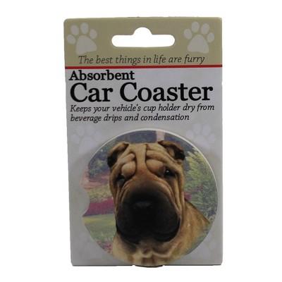 """Car Coaster 2.5"""" Sharpei Car Coaster Absorbent E & S Pet  -  Coasters"""