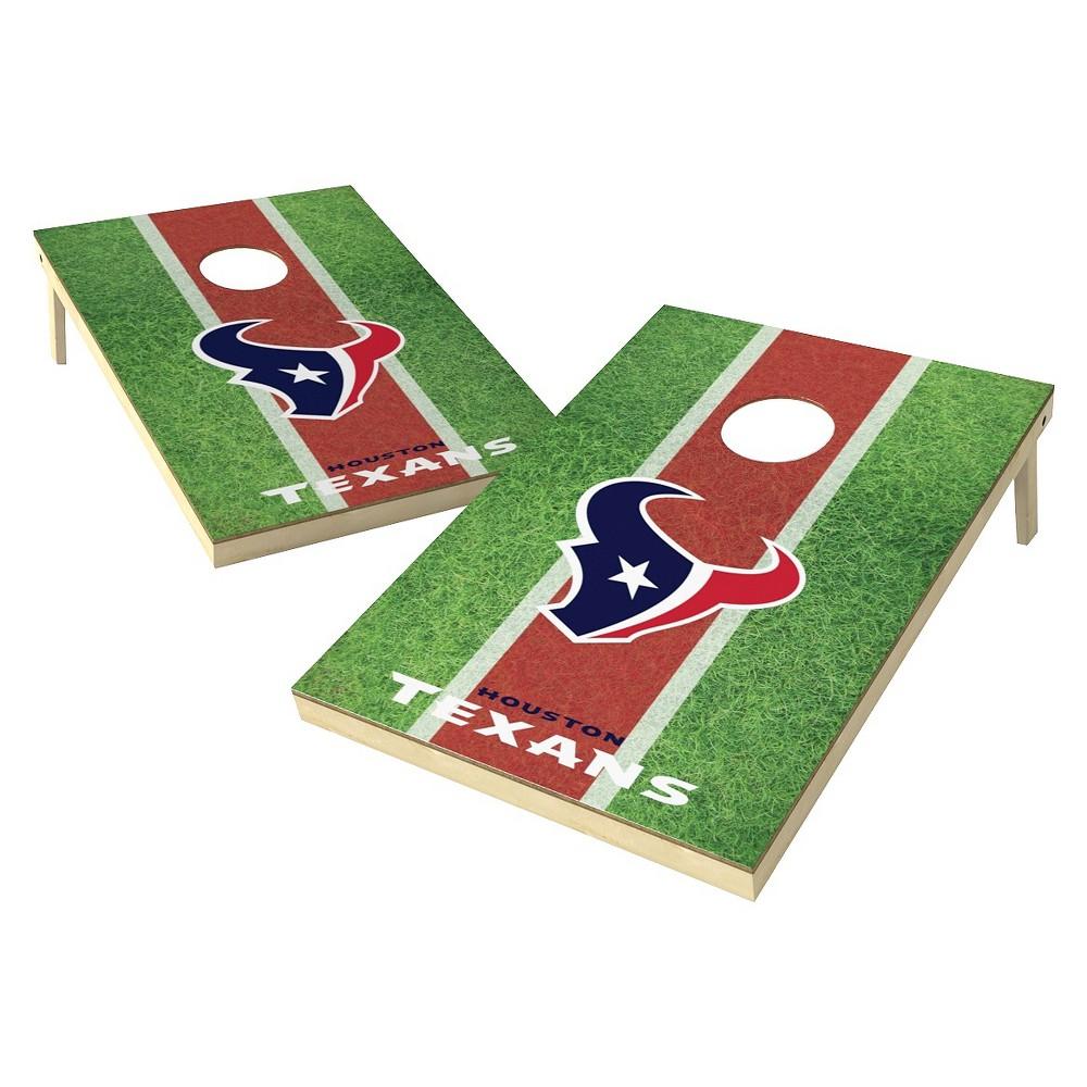 Houston Texans Wild Sports Field Shield Cornhole Bag Toss Set - 2x3 ft.