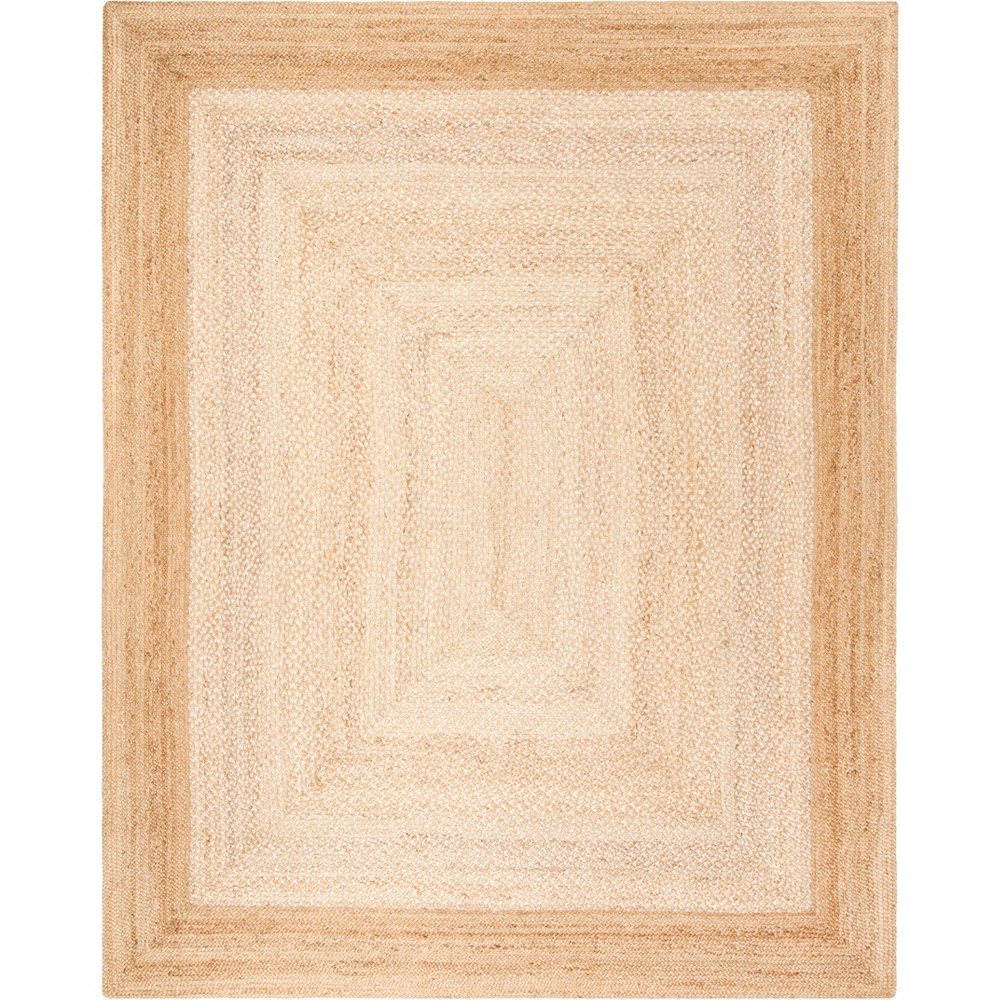 8'X10' Solid Woven Area Rug Natural/Ivory - Safavieh, White