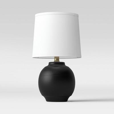 Antique Textural Ceramic Accent Lamp Black - Threshold™