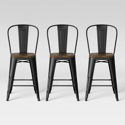 Carlisle Wood Seat Backed Counter Height Barstool - Threshold™