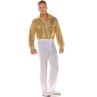 Underwraps Costumes Gold Sequin Shirt Adult Costume