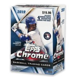 2019 MLB Chrome Baseball Trading Card Blaster Box