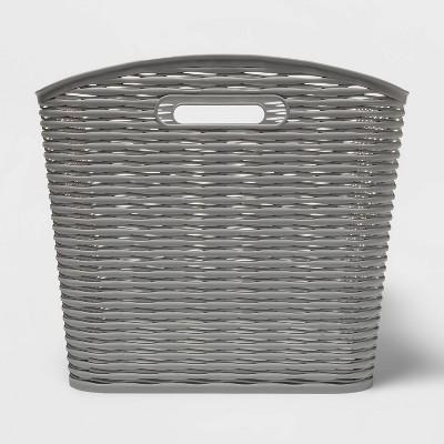 26L Curved Wave Design Storage Bin Gray - Room Essentials™