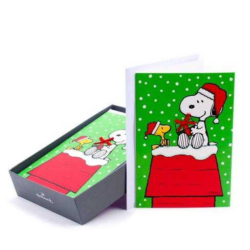Hallmark Christmas Cards.16ct Hallmark Peanuts Snoopy Greeting Cards