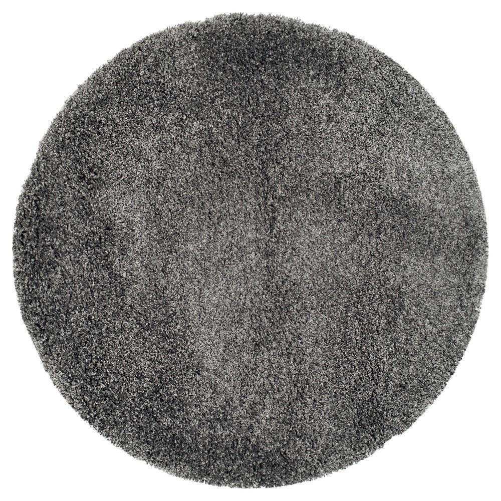 Quincy Area Rug - Dark Gray (8' 6 Round) - Safavieh