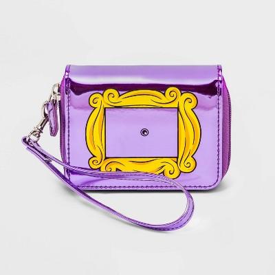 Girls' Friends Zip Wallet - Purple