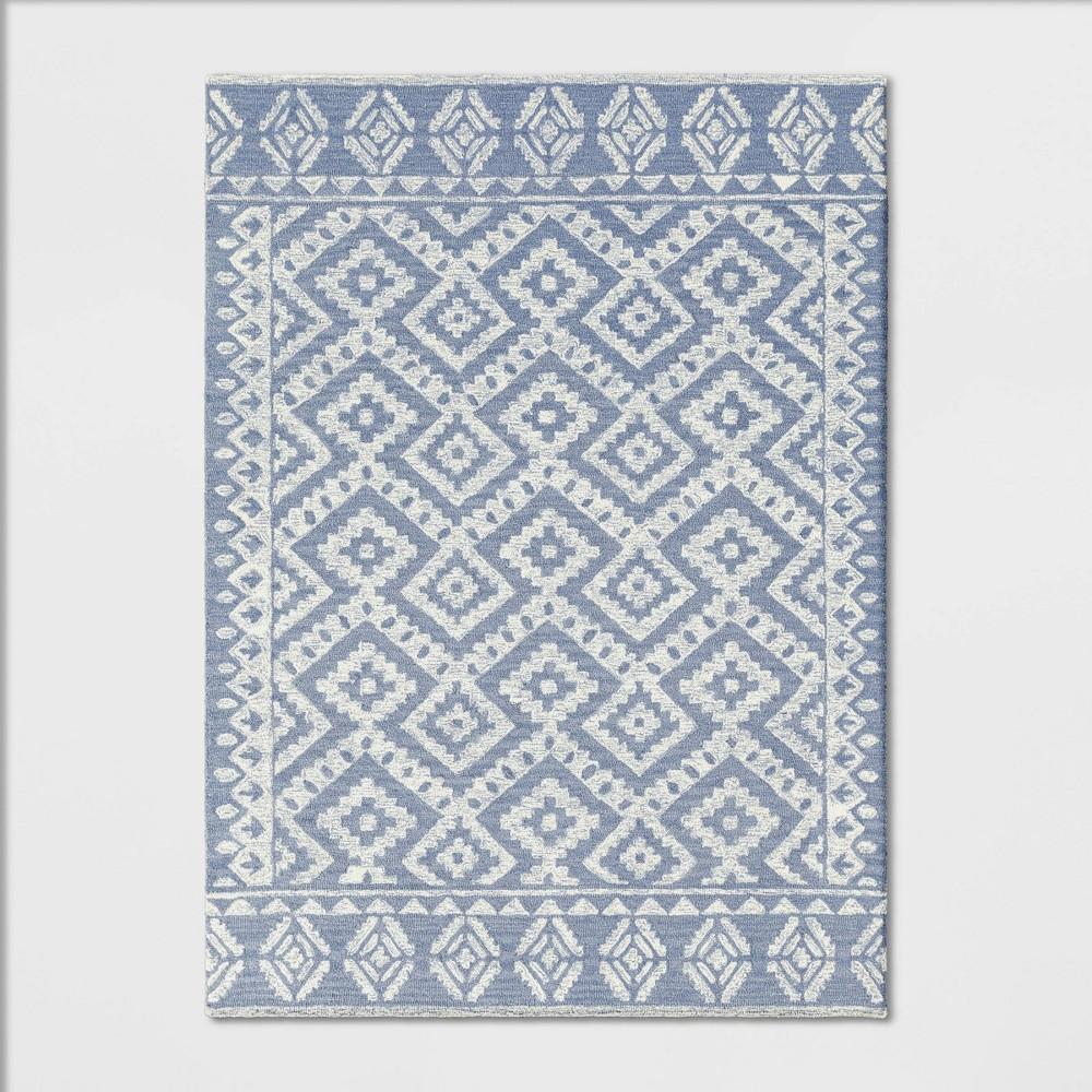 5'X7' Jacamar Tribal Design Tufted Area Rug Gray - Opalhouse was $179.99 now $89.99 (50.0% off)