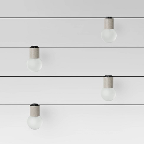 10ct Modern String Lights - Frosted G40 String Lights with Collar - Project 62™ - image 1 of 2