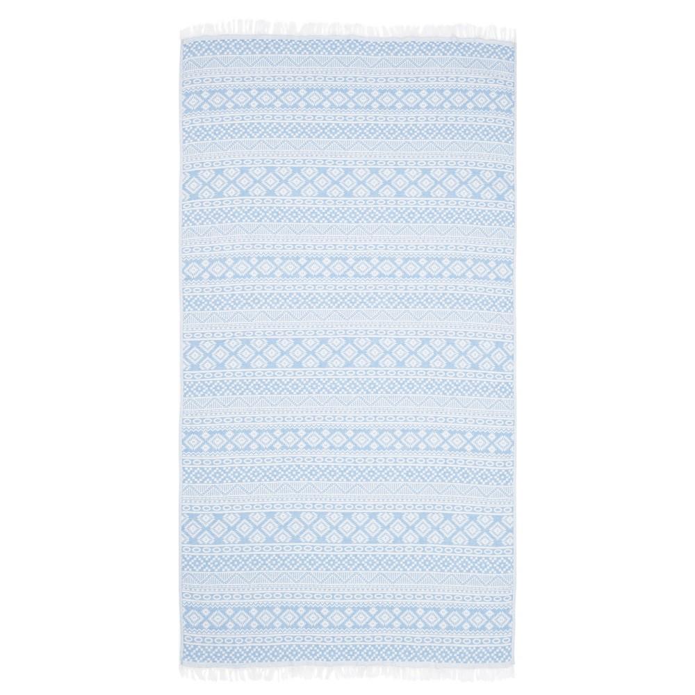 Sea Breeze Pestemal Beach Towel Sky Blue - Linum Home Textiles