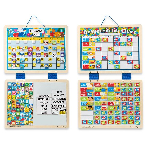 melissa doug kids magnetic calendar and responsibility chart set