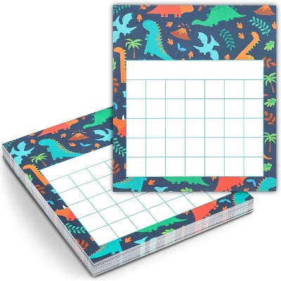 """60-Pack Classroom Incentive Charts, Motivate Nice Behavior for Teachers Students, Dinosaur Themed, 6x5.25"""""""