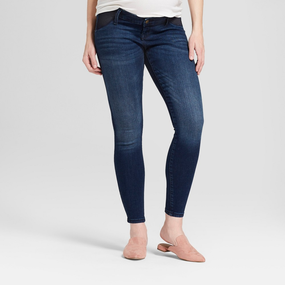 Maternity High Rise Inset Panel Skinny Jeans Isabel Maternity By Ingrid 38 Isabel 8482 Dark Wash 0
