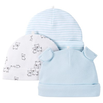 Just One You™ Made by Carter's® Baby Boys' 3pk Skull Cap - Blue 0-3 M