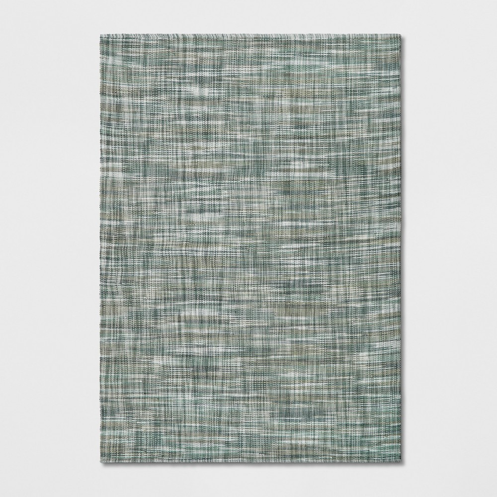 7'x10' Solid Woven Area Rug Blue - Project 62