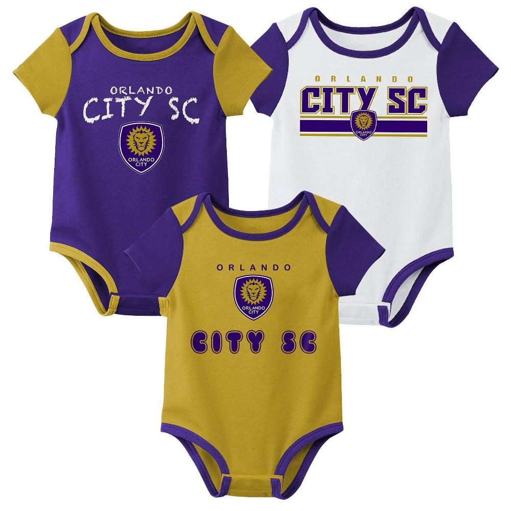 Mls Orlando City Sc Baby 3pk Bodysuit Set 3m