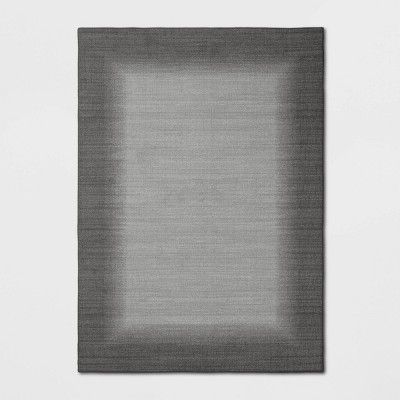 5'X7' Good Fashion Border Rug Gray - Room Essentials™